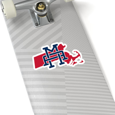 Massachusetts Home State Sticker (Red & Navy Blue)