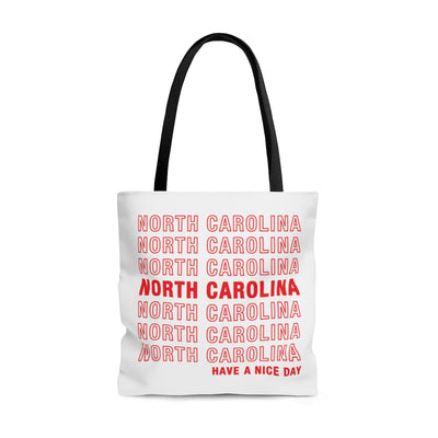 North Carolina Retro Thank You Tote Bag