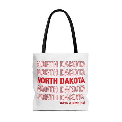 North Dakota Retro Thank You Tote Bag