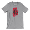 Alabama Home State Map Men/Unisex T-Shirt-Allegiant Goods Co.