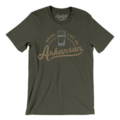 Drink Like an Arkansan Men/Unisex T-Shirt-Allegiant Goods Co.