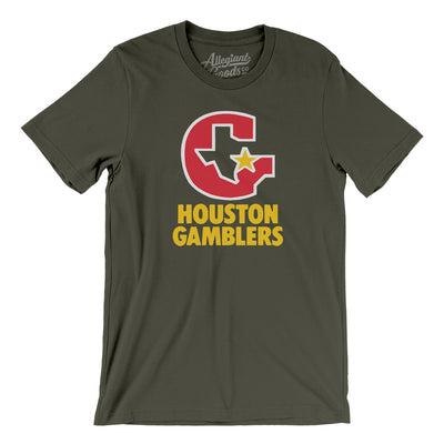 Houston Gamblers Football Men/Unisex T-Shirt