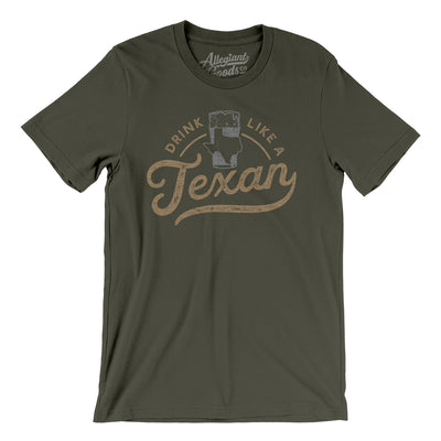 Drink Like a Texan Men/Unisex T-Shirt-Allegiant Goods Co.