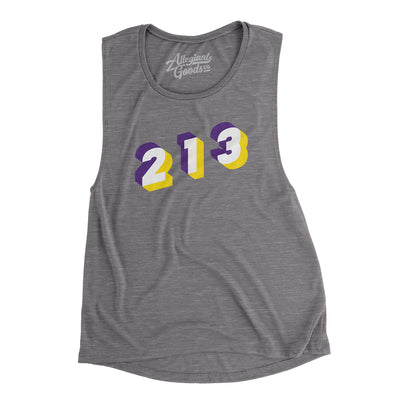 Los Angeles 213 Area Code Women's Flowey Scoopneck Muscle Tank