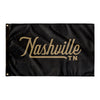 Nashville Tennessee Wall Flag (Black & Gold)-Allegiant Goods Co.