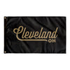 Cleveland Ohio Wall Flag (Black & gold)-Allegiant Goods Co.