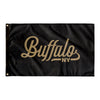 Buffalo New York Wall Flag (Black & Gold)-Allegiant Goods Co.
