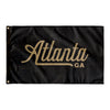 Atlanta Georgia Wall Flag (Black & Gold)-Allegiant Goods Co.