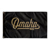 Omaha Nebraska Wall Flag (Black & Gold)-Allegiant Goods Co.