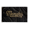 Memphis Tennessee Wall Flag (Black & Gold)-Allegiant Goods Co.
