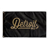 Detroit Michigan Wall Flag (Black & Gold)-Allegiant Goods Co.