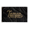 Tampa Florida Wall Flag (Black & Gold)-Allegiant Goods Co.