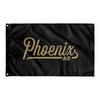 Phoenix Arizona Wall Flag (Black & Gold)-Allegiant Goods Co.
