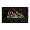 Dallas Texas Wall Flag (Black & Gold)-Allegiant Goods Co.