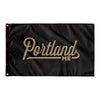 Portland Maine Wall Flag (Black & Gold)-Allegiant Goods Co.