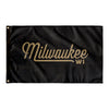 Milwaukee Wisconsin Wall Flag (Black & Gold)-Allegiant Goods Co.