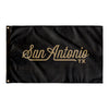 San Antonio Texas Wall Flag (Black & Gold)-Allegiant Goods Co.
