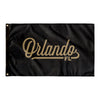 Orlando Florida Wall Flag (Black & Gold)-Allegiant Goods Co.