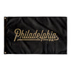 Philadelphia Pennsylvania Wall Flag (Black & Gold)-Allegiant Goods Co.