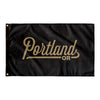 Portland Oregon Wall Flag (Black & Gold)-Allegiant Goods Co.