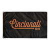 Cincinnati Ohio Wall Flag (Black & Orange)-Allegiant Goods Co.