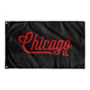 Chicago Illinois Wall Flag (Black & Red)-Allegiant Goods Co.