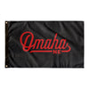 Omaha Nebraska Wall Flag (Black & Red)-Allegiant Goods Co.