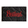 Portland Oregon Wall Flag (Black & Red)-Allegiant Goods Co.