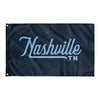 Nashville Tennessee Wall Flag (Navy & Light blue)-Allegiant Goods Co.