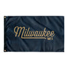 Milwaukee Wisconsin Wall Flag (Blue & Gold)-Allegiant Goods Co.