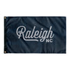 Raleigh North Carolina Wall Flag (Blue & Grey)-Allegiant Goods Co.