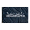 Indianapolis Indiana Wall Flag (Blue & Grey)-Allegiant Goods Co.