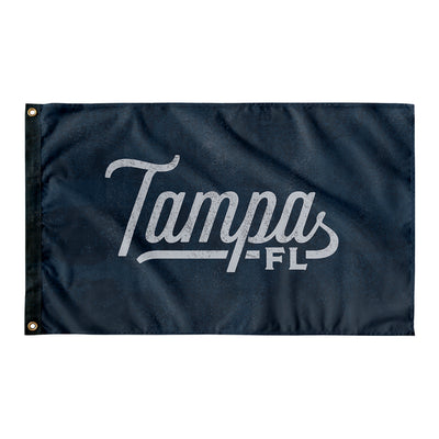 Tampa Florida Wall Flag (Blue & Grey)-Allegiant Goods Co.