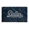 Dallas Texas Wall Flag (Blue & Grey)-Allegiant Goods Co.