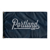Portland Oregon Wall Flag (Blue & Grey)-Allegiant Goods Co.