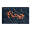 Chicago Illinois Wall Flag (Blue & Orange)-Allegiant Goods Co.