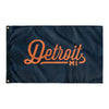 Detroit Michigan Wall Flag (Blue & Orange)-Allegiant Goods Co.