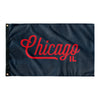 Chicago Illinois Wall Flag (Blue & Red)-Allegiant Goods Co.