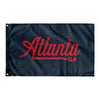 Atlanta Georgia Wall Flag (Navy & Red)-Allegiant Goods Co.