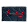 Cleveland Ohio Wall Flag (Navy & Red)-Allegiant Goods Co.