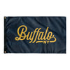 Buffalo New York Wall Flag (Navy & Yellow)-Allegiant Goods Co.
