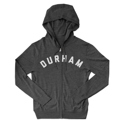 Durham North Carolina Lightweight Zip Hoodie-Allegiant Goods Co.