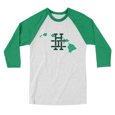 Hawaii Home State Map Men/Unisex Tri-Blend Baseball T-Shirt-Allegiant Goods Co.
