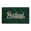Portland Maine Wall Flag (Green & Off-White)-Allegiant Goods Co.