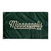 Minneapolis Minnesota Wall Flag (Green & Off-White)-Allegiant Goods Co.