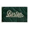Boston Massachusetts Wall Flag (Green & Off-White)-Allegiant Goods Co.