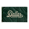 Dallas Texas Wall Flag (Green & Off-White)-Allegiant Goods Co.