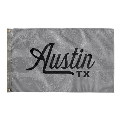 Austin Texas Wall Flag (Grey and Black)-Allegiant Goods Co.