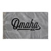 Omaha Nebraska Wall Flag (Grey & Black)-Allegiant Goods Co.