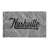 Nashville Tennessee Wall Flag (Grey & Black)-Allegiant Goods Co.